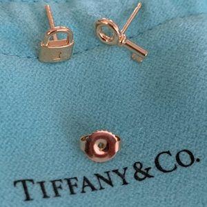 Tiffany & Co. 18 k rose gold earrings.